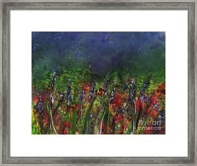 Field Of Flowers Framed Print