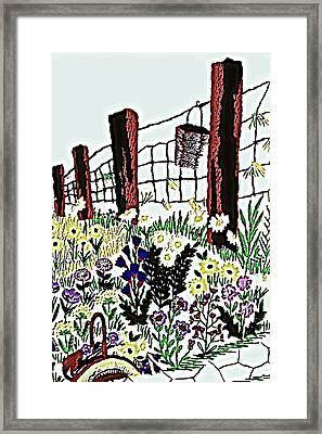 Field Of Flowers Framed Print by Sheri Buchheit