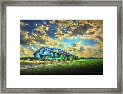 Field Of Green Framed Print by Marvin Spates