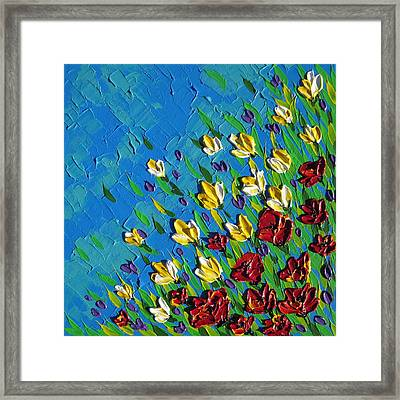 Field Of Happiness Framed Print by Cathy Jacobs