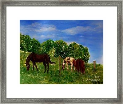 Field Of Horses' Dreams Framed Print