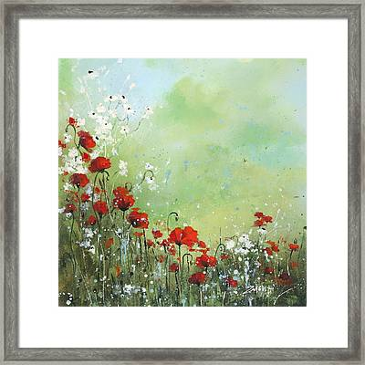 Framed Print featuring the painting Field Of Imagination by Laura Lee Zanghetti