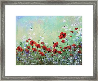 Field Of Imagination Two Framed Print by Laura Lee Zanghetti