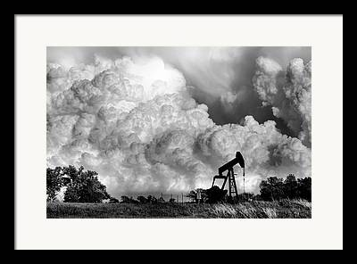 Grey Clouds Framed Prints
