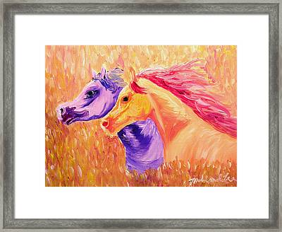 Field Of Orange Framed Print by Michael Lee