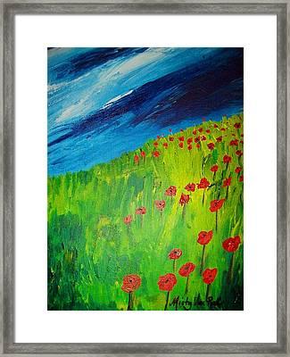 field of Poppies 2 Framed Print by Misty VanPool