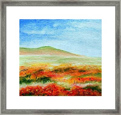Field Of Poppies Framed Print by Jamie Frier