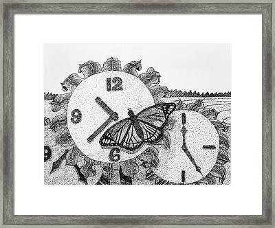 Field Of Time Framed Print