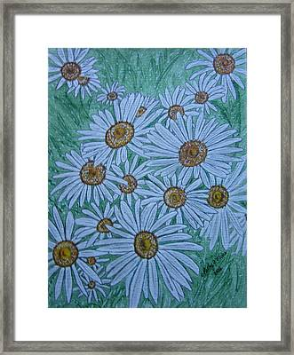 Field Of Wild Daisies Framed Print by Kathy Marrs Chandler