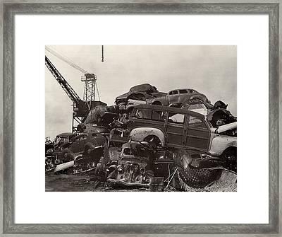 Junk Yard Of Woody Dream Cars Framed Print