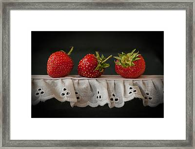 Field Strawberries Framed Print