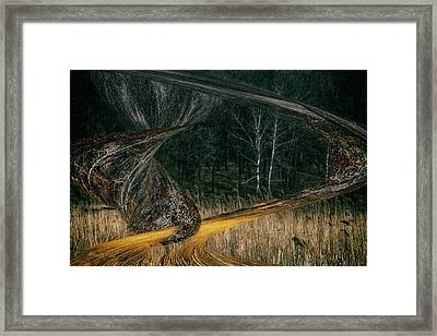 Field Warping Framed Print
