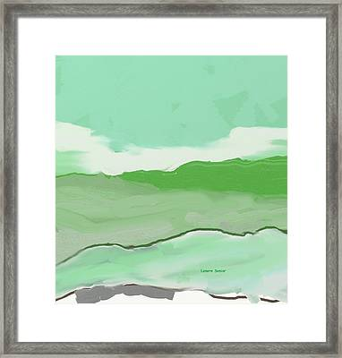 Fields And Sky Framed Print