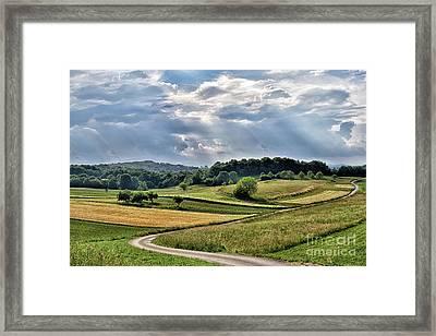 Fields Behind Cerina Framed Print