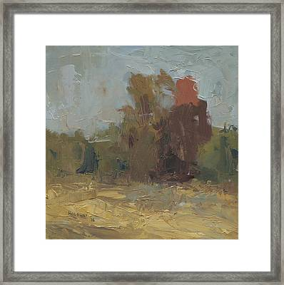 Fields Edge In Autumn Framed Print by John Holdway