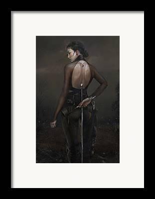 Warrioress Framed Prints