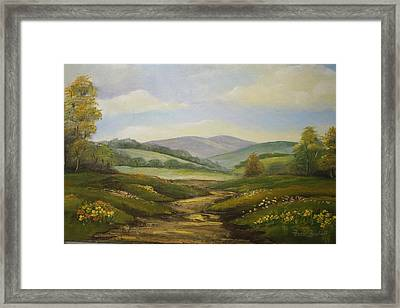 Fields In Summer Framed Print by Ansie Boshoff
