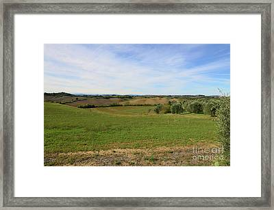Fields In Tuscany Italy Framed Print by DejaVu Designs