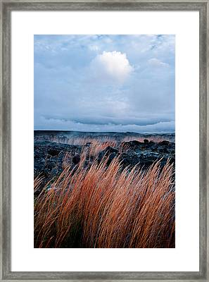 Fields Of Fire Framed Print by Gary Cloud
