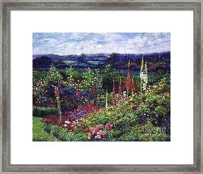 Fields Of Floral Splendor Framed Print by David Lloyd Glover