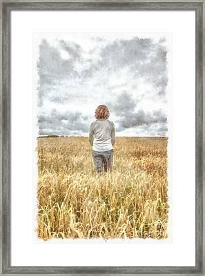 Fields Of Gold Framed Print by Edward Fielding