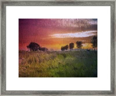 Fields Of Green Framed Print
