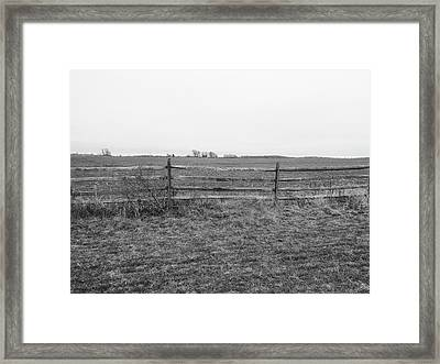 Gettysburg Series Fields Of Pickett's Charge Framed Print