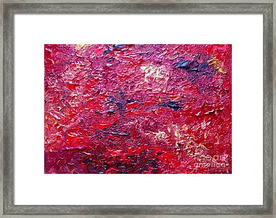 Fields Of Red Framed Print by Shelly Wiseberg