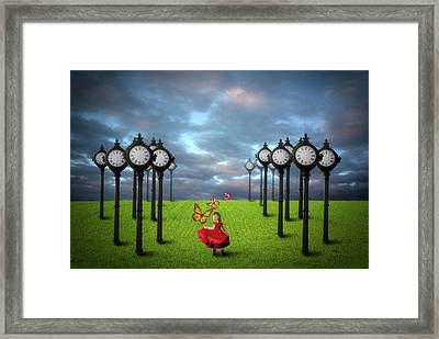 Framed Print featuring the digital art Fields Of Time by Nathan Wright