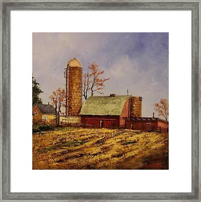Fields Ready For Fall Framed Print