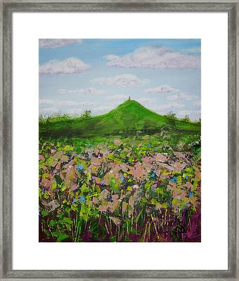 Fields To Glastonbury Tor Framed Print