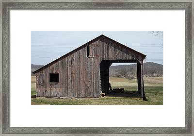 Fieldshed Framed Print by Don Koester