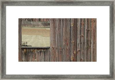 Fieldwindow #1 Framed Print by Don Koester