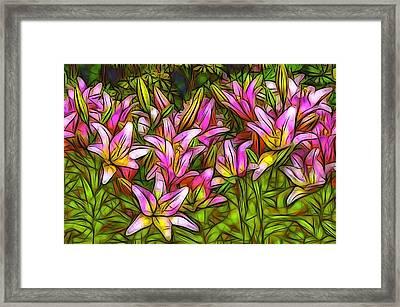 Field Of Lilies Framed Print