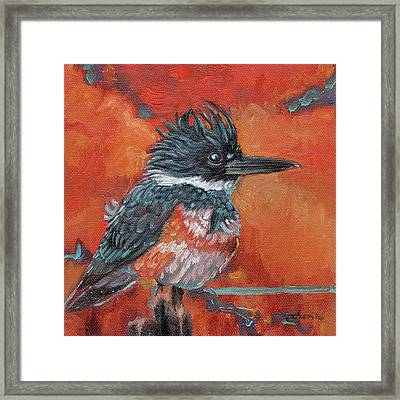 Fierce Blue Framed Print