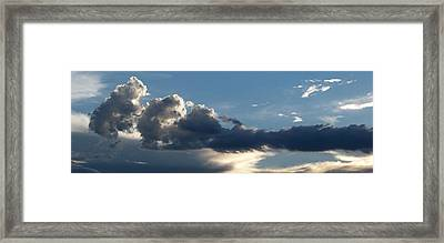 Fierce Cloud Framed Print by Jera Sky