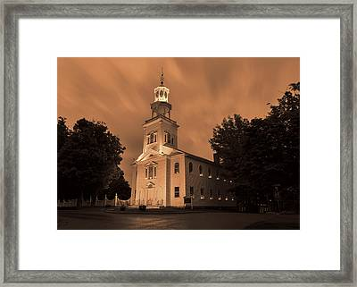 Fierce Grace - First Church Bennington Framed Print by Stephen Stookey