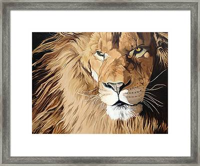 Fierce Protector Framed Print