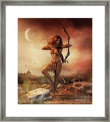 Fierce Framed Print by Shanina Conway