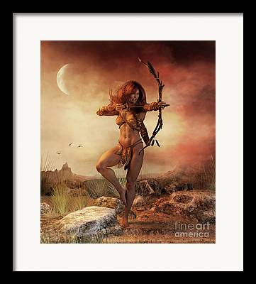 Concentration Digital Art Framed Prints