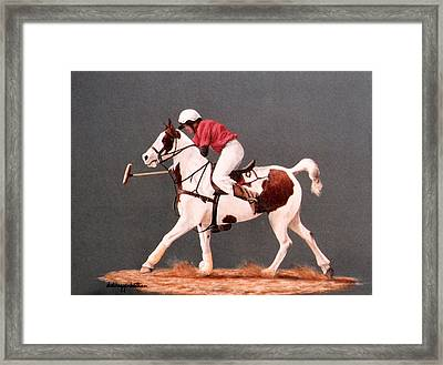 Framed Print featuring the painting Fierce Sparrow And Trainer by DiDi Higginbotham