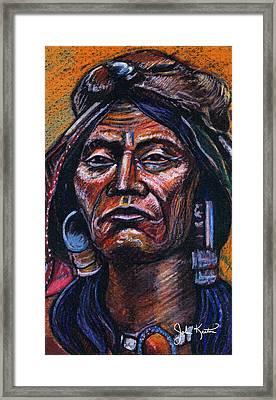 Fierce Warrior Framed Print by John Keaton