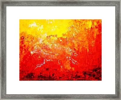 Fierry Horses Framed Print by Piety Dsilva