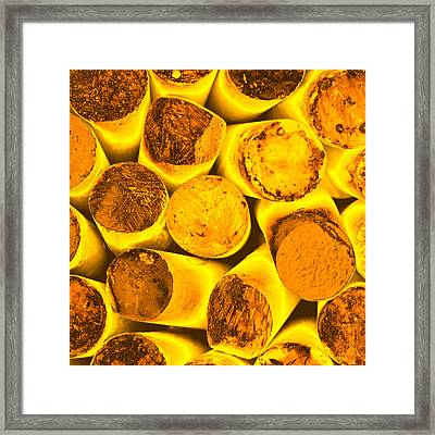 Fiery Abstract Framed Print by Tom Gowanlock