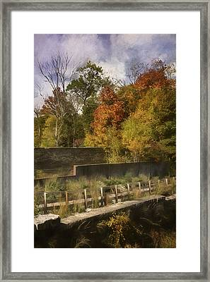 Fiery Autumn Framed Print by Scott Norris