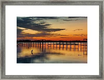 Fiery Beginning Framed Print