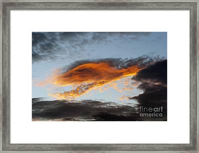 Fiery Cloud Framed Print by Michal Boubin