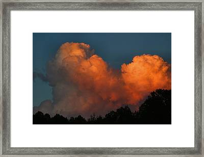 Fiery Cumulus Framed Print