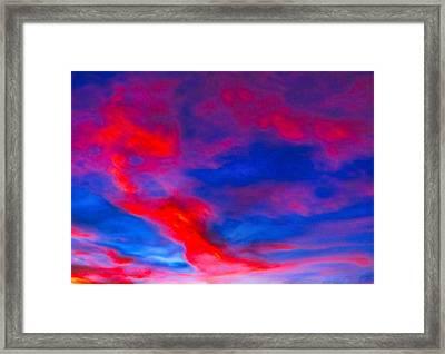 Fiery Dragon Floating Framed Print