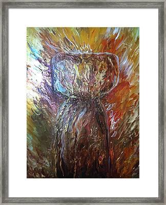Fiery Earth Latte Stone Framed Print